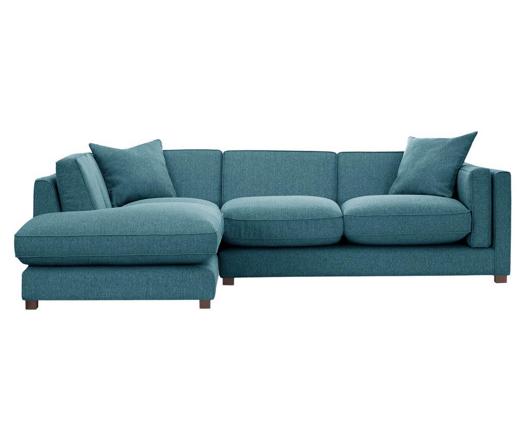 Coltar stanga Organdi Big Angle Turquoise