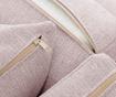 Coltar stanga Organdi Big Angle Powder Pink