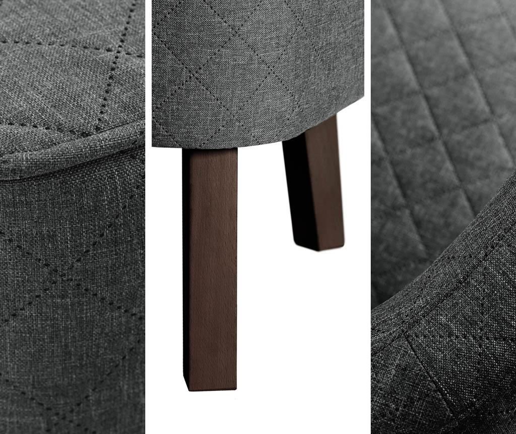 Canapea 2 locuri Percale Grey