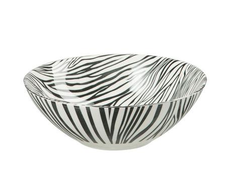 Zebra Black Dísztál