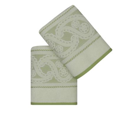 Sada 2 ručníků Jackuard Hurrem Green 50x90 cm