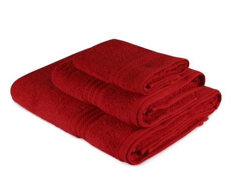 Sada 3 ručníků Simple Red