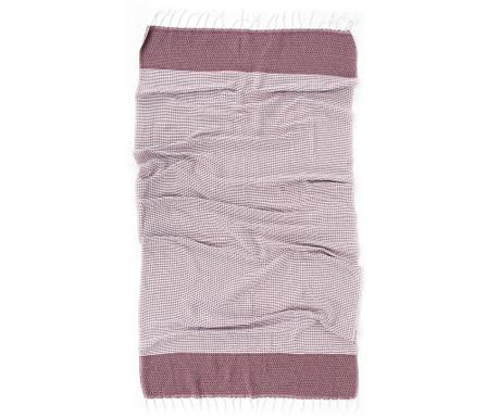 Kupaonski ručnik Pestemal Mia Bordeaux 90x170 cm