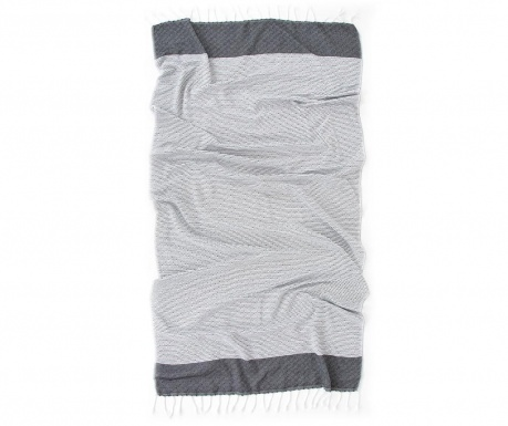 Kupaonski ručnik Pestemal Alaz Grey 90x170 cm