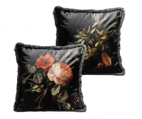 Dekorační polštář Dark Flowers 45x45 cm