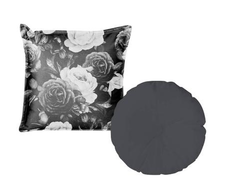 Комплект 2 декоративни възглавници Flowers Black