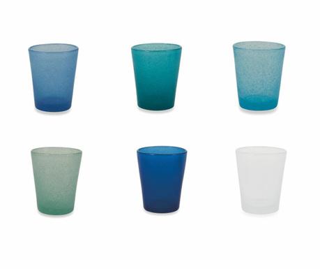 Sada 6 pohárov na vodu Cancun Marea 330 ml