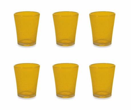 Sada 6 sklenic na vodu Cancun Satin Yellow 330 ml