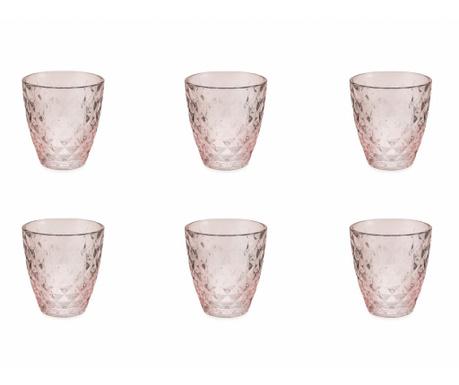Sada 6 pohárov na vodu Fresh Pink 257 ml