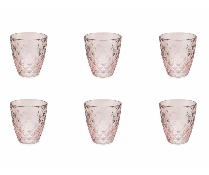 Set 6 čaša za vodu Fresh Pink 257 ml