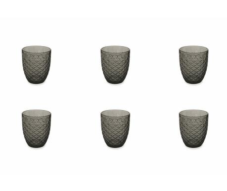 Сервиз 6 чаши за вода Spiga Black 332 мл