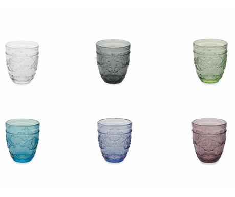 Sada 6 pohárov na vodu Syrah Rainbow 324 ml