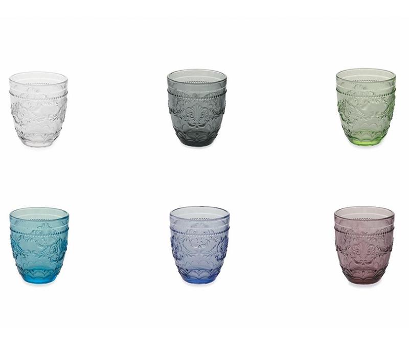 Set 6 kozarcev za vodo Syrah Rainbow 324 ml