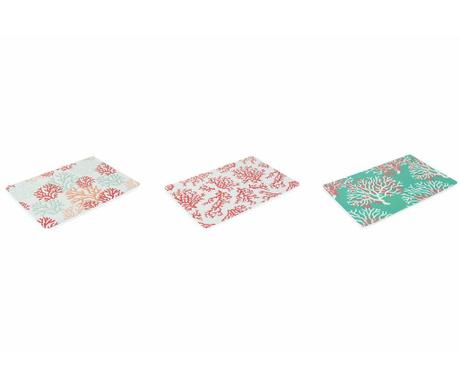 Комплект 6 подложки за хранене Coral 30x45 см