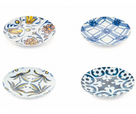 Sada 6 talířů na dezert Portogallo