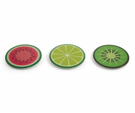Sada 3 podložek pod horké nádoby Fruit