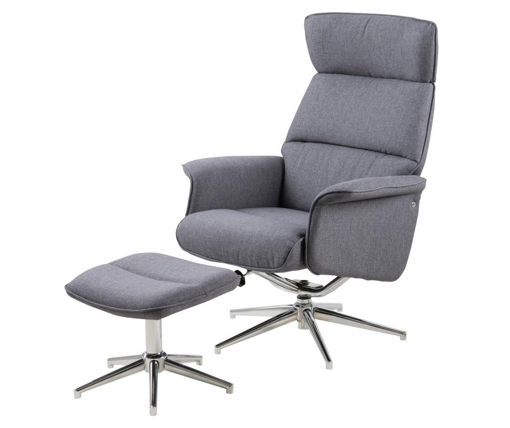 Set fotelja i tabure za noge Recliner Alura