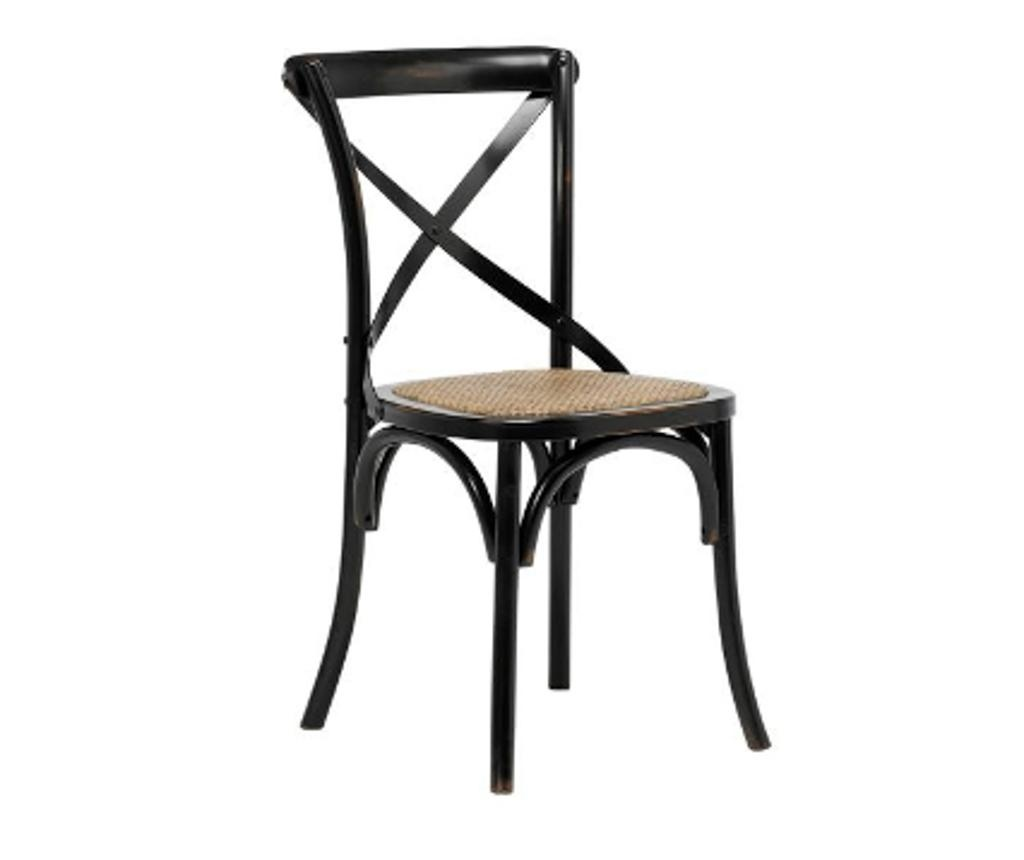 Set 2 stolice Vintage Black