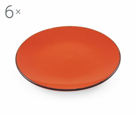 Sada 6 talířů na dezert Baita Orange