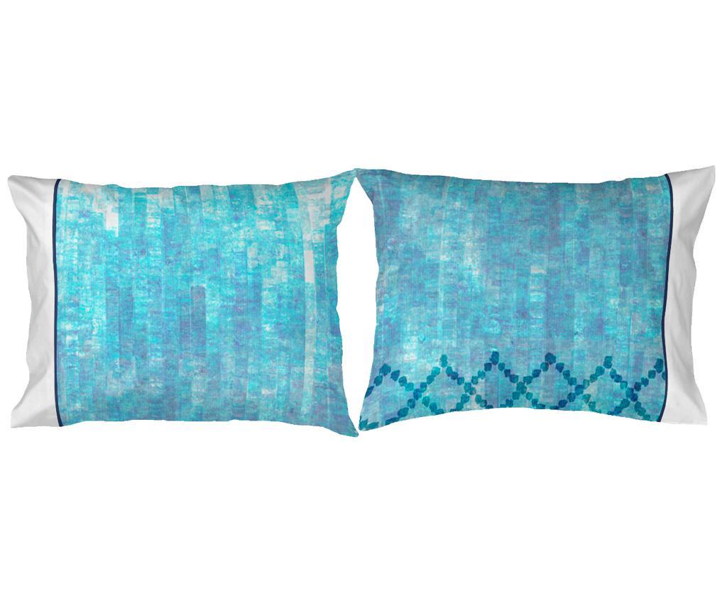 Set 2 fete de perna Gisele Blue 50x80 cm