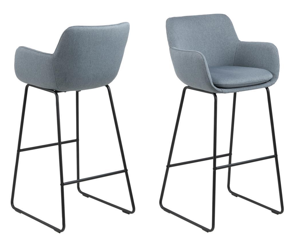 Set 2 barske stolice Lisa Dusty Blue