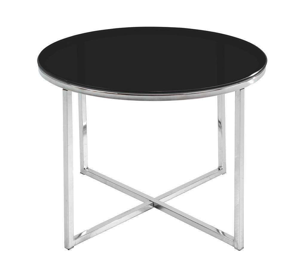 Stolić za kavu Cross Style Round Black