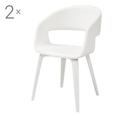Sada 2 židlí Nova White