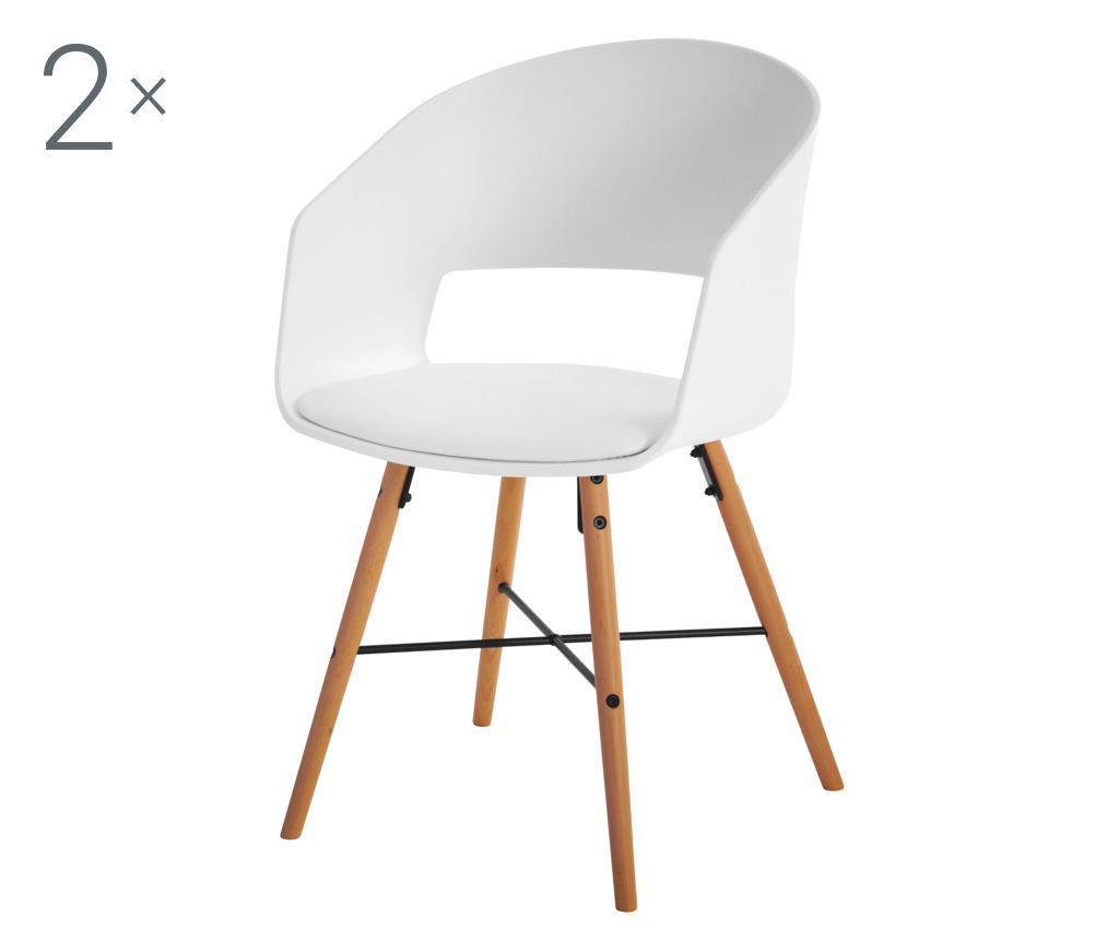 Set 2 stolice Luna White Cream