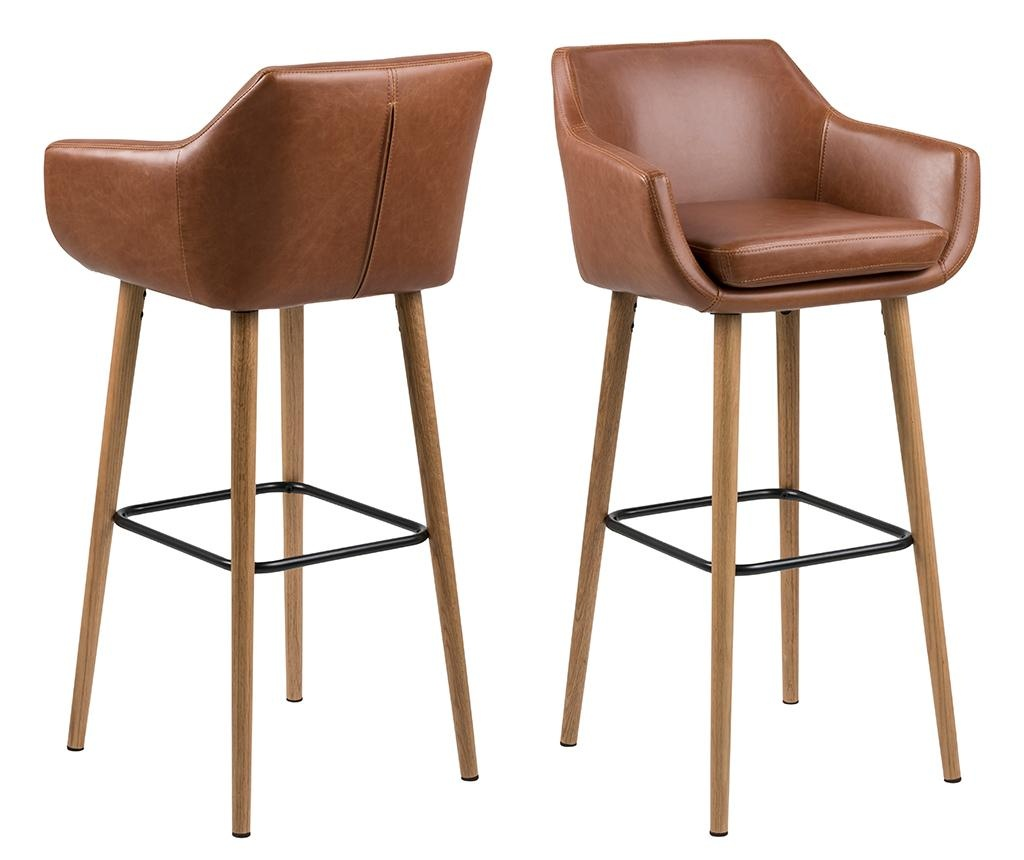 Sada 2 barových židlí Nora