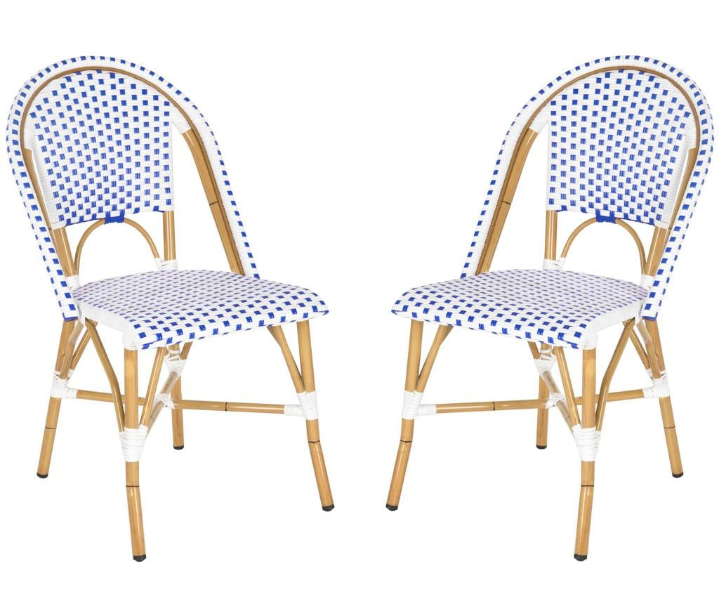 Set 2 stolice za vanjski prostor Adalene Blues