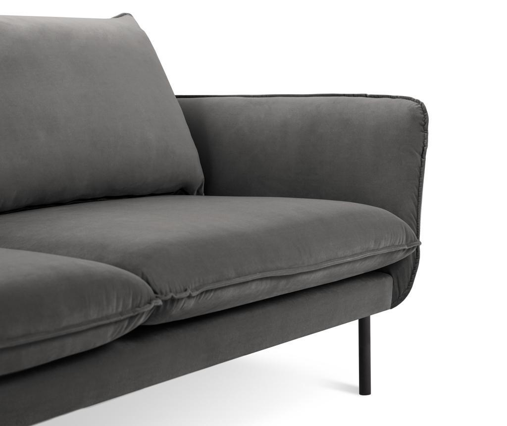 Kauč trosjed Vienna Dark Grey