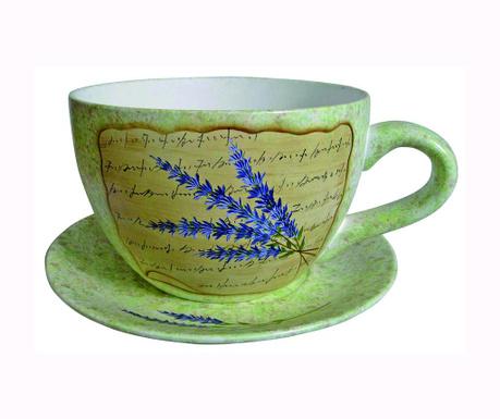Květináč s podnosem Lavander Cup