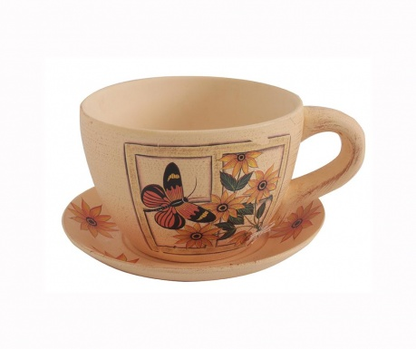 Комплект саксия и тавичка Butterfly Cup