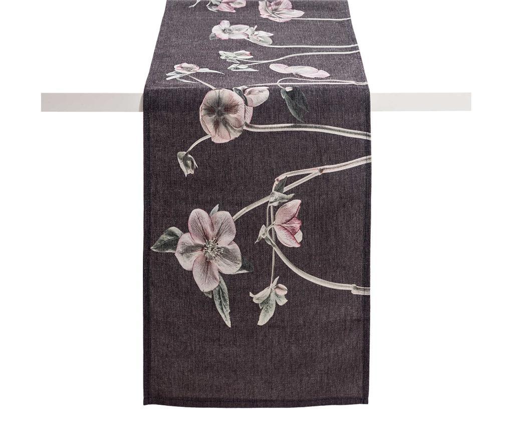 Anemones Dark Grey Asztali futó 40x160 cm
