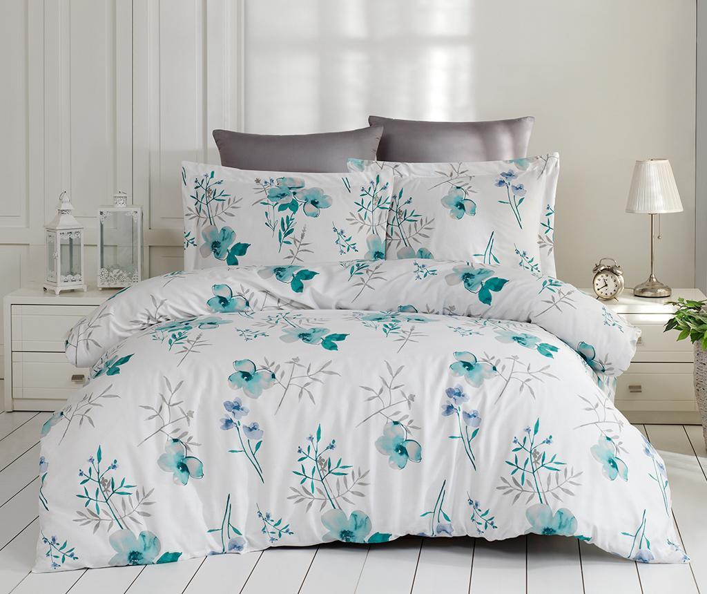 Set posteljina King Satin Supreme Blomster