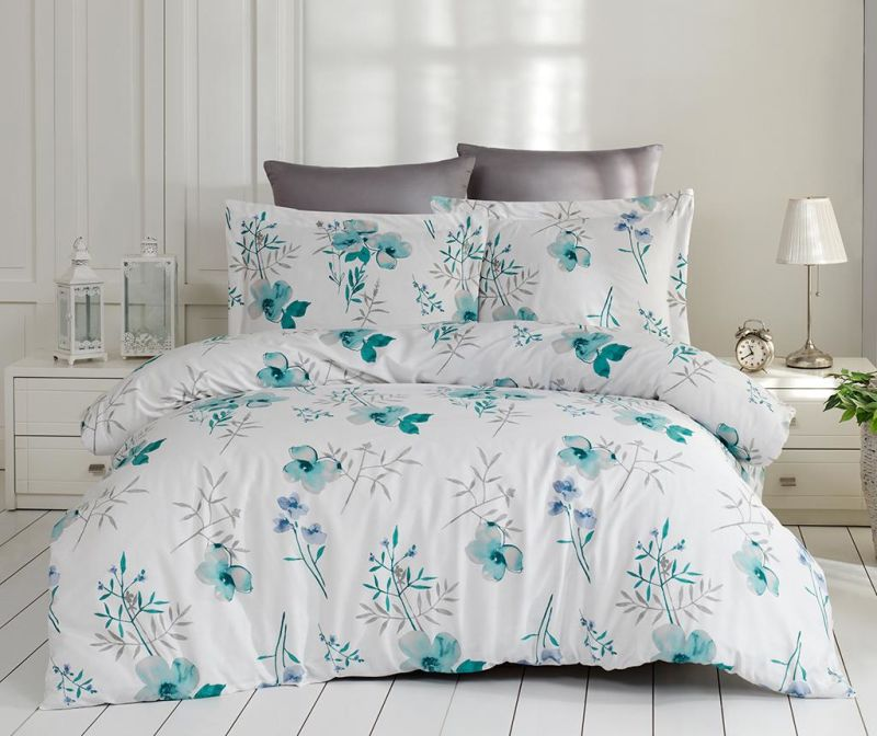 Set posteljina King Satin Supreme Blomster