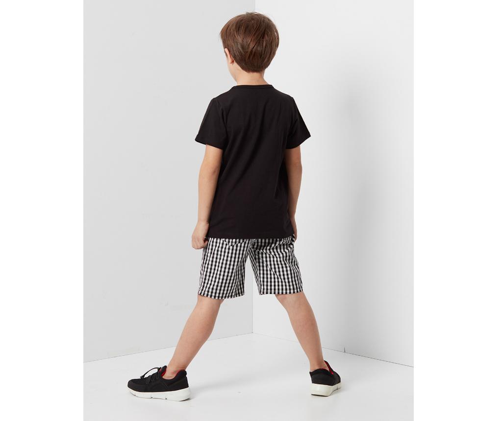 Otroški komplet - kratke hlače in majica s kratkimi rokavi Dog Boss Checked 3 let