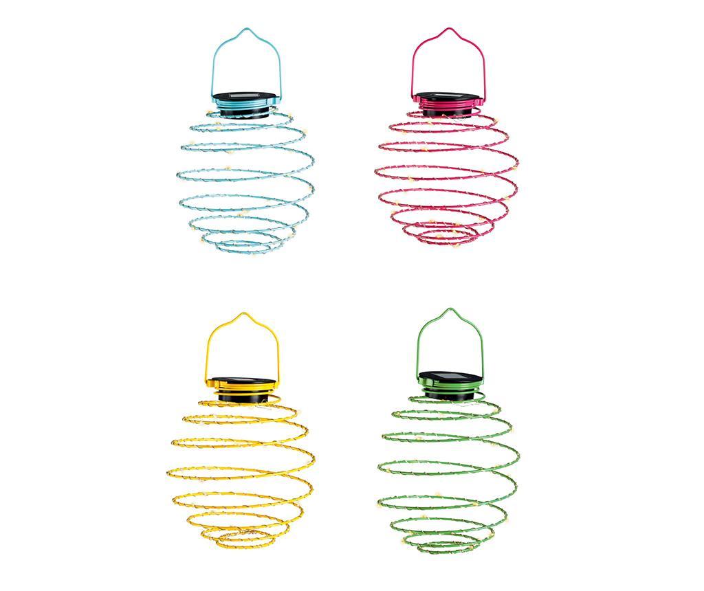 Set 4 lampi solare Mini Solar Spiral