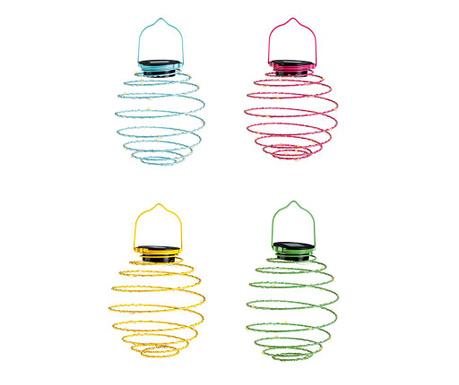 Set 4 solarne svjetiljke Mini Solar Spiral