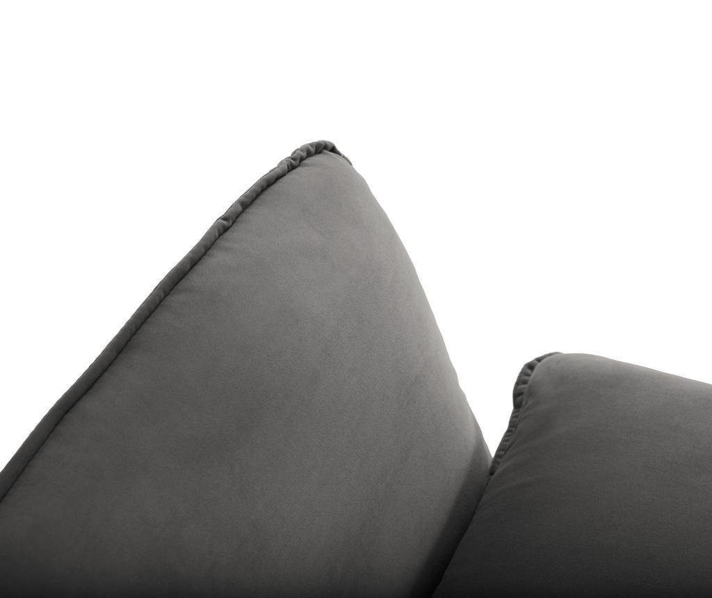 Desna kotna sedežna garnitura Vienna Dark Grey