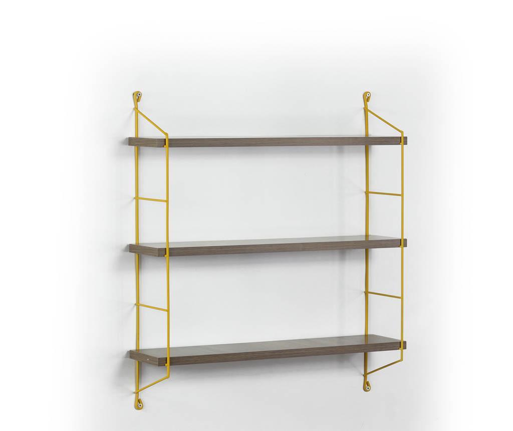 Stenska polica Illia Ladder Yellow