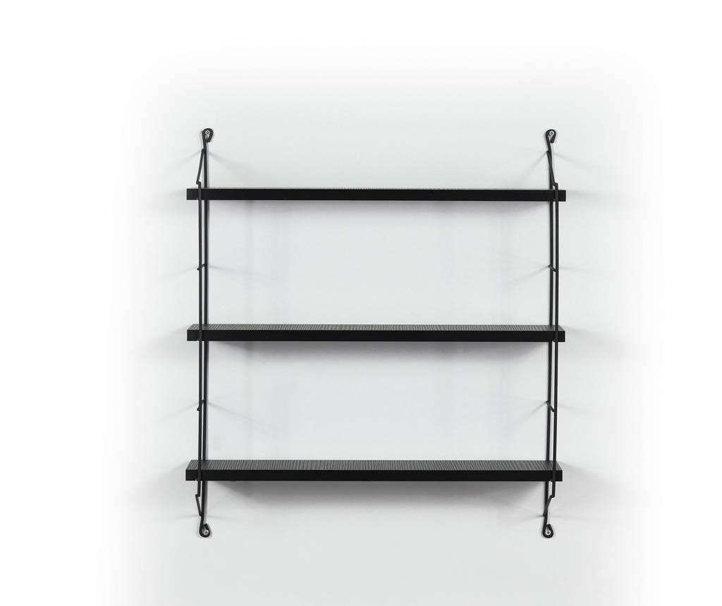 Illia Ladder Black Fali polc