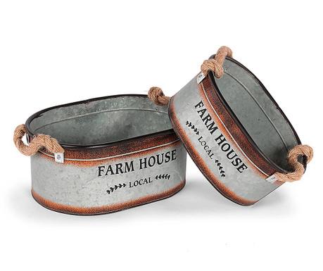 Farm House 2 db Virágcserép