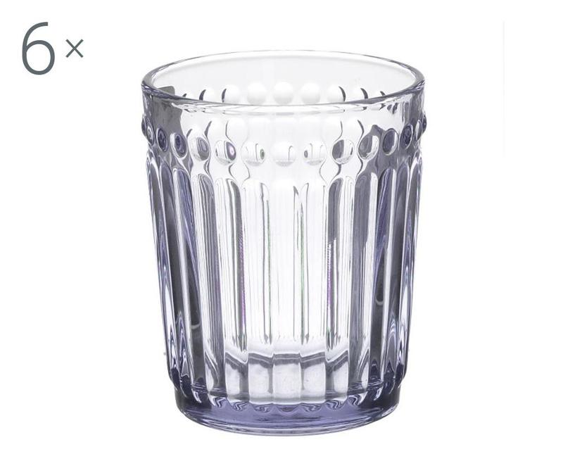 Set 6 kozarcev za whiskey Clara Pink 227 ml