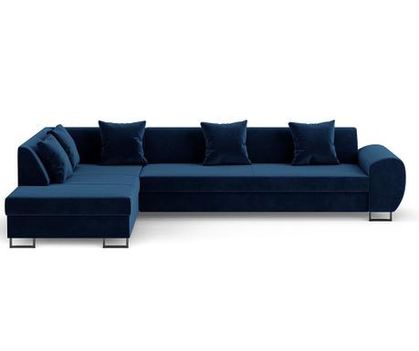 Calmato Royal Blue Baloldali  kihúzható sarokkanapé