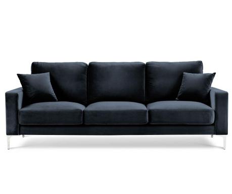Lyrique Dark Blue Háromszemélyes kanapé