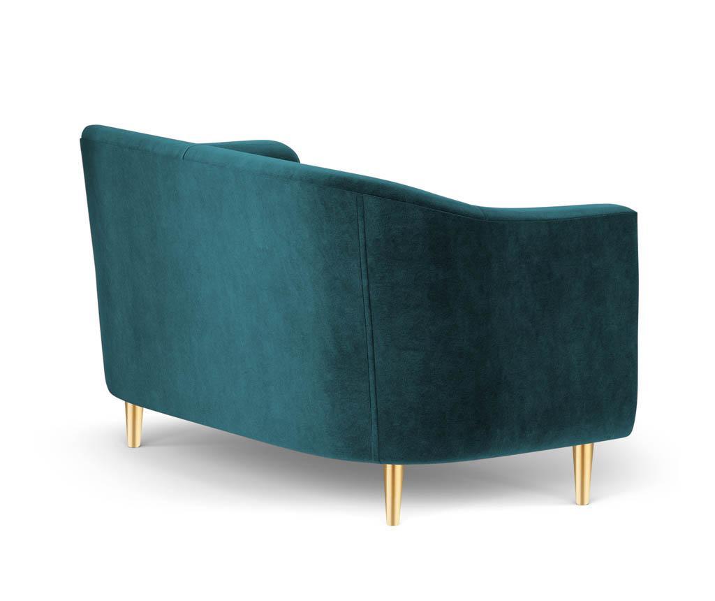 Sofa dvosjed Corde Turquoise