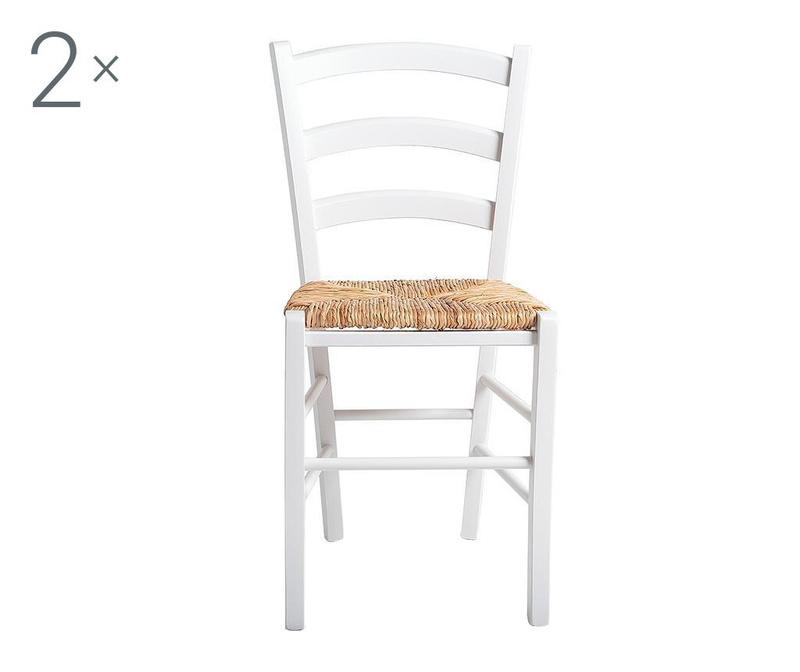 Комплект 2 стола Gabryel White