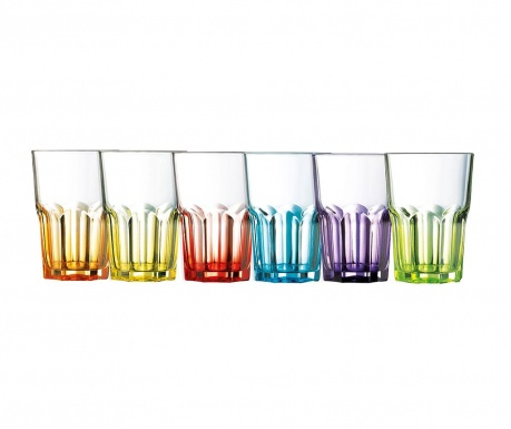 Set 6 kozarcev Crazy Colors 400 ml