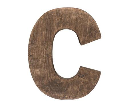 Decoratiune Letter C Brown Wood